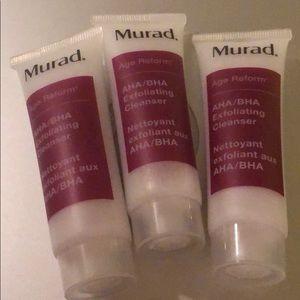 Murad exfoliating Cleanser aha bha set of 3
